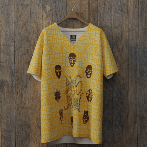 tee-shirt all over dimsdraw masque gomme-gutte