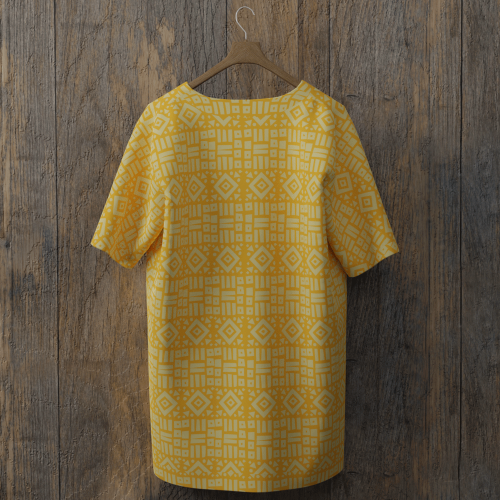 tee-shirt all over dos dimsdraw masque gomme-gutte
