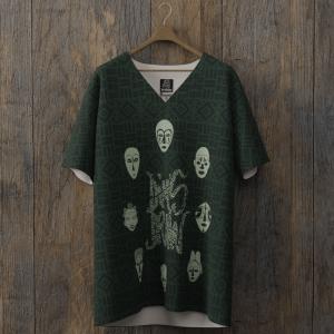 tee-shirt all over dimsdraw masque vert