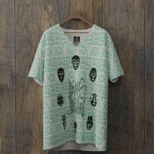 tee-shirt all over dimsdraw masque vert-menthe