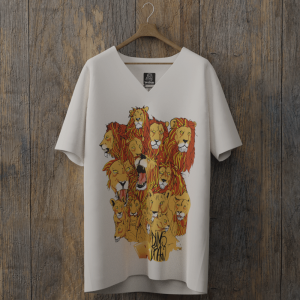 Infinit Lion col v blanc randy dims